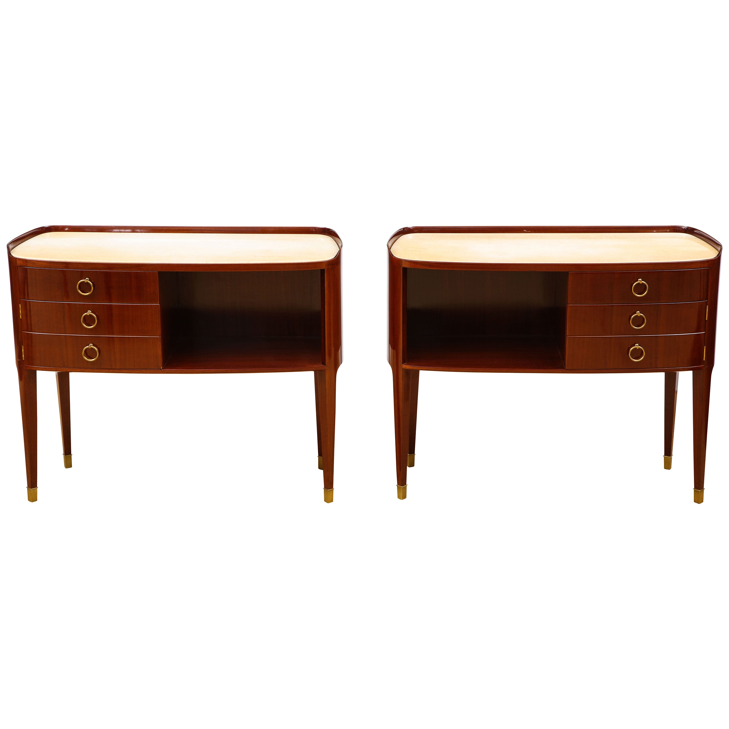 Pair of Unique Commodes, by Paolo Buffa