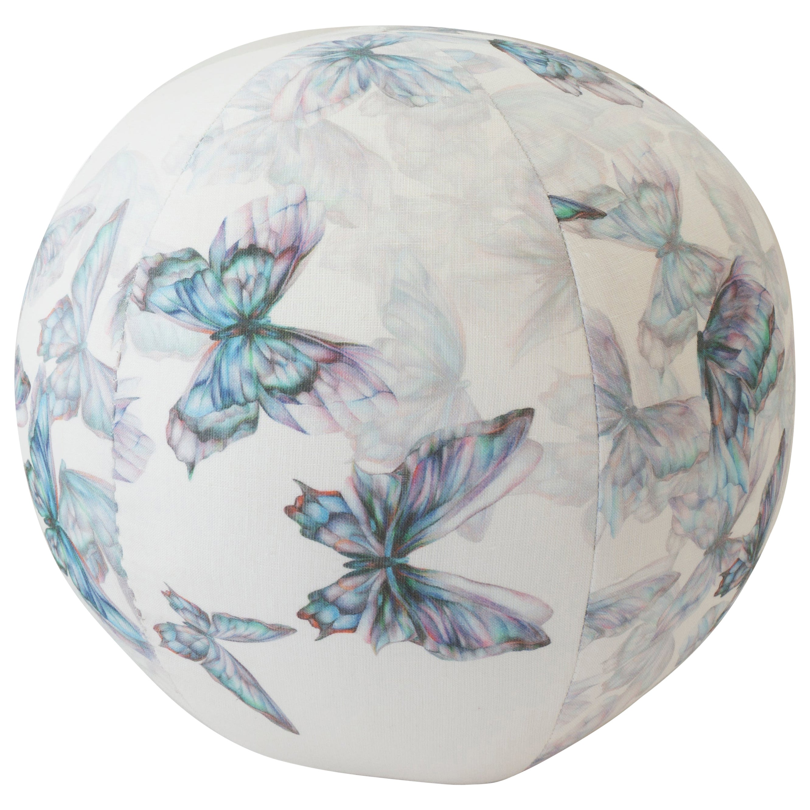 Watercolor Butterfly Round Ball Pillow