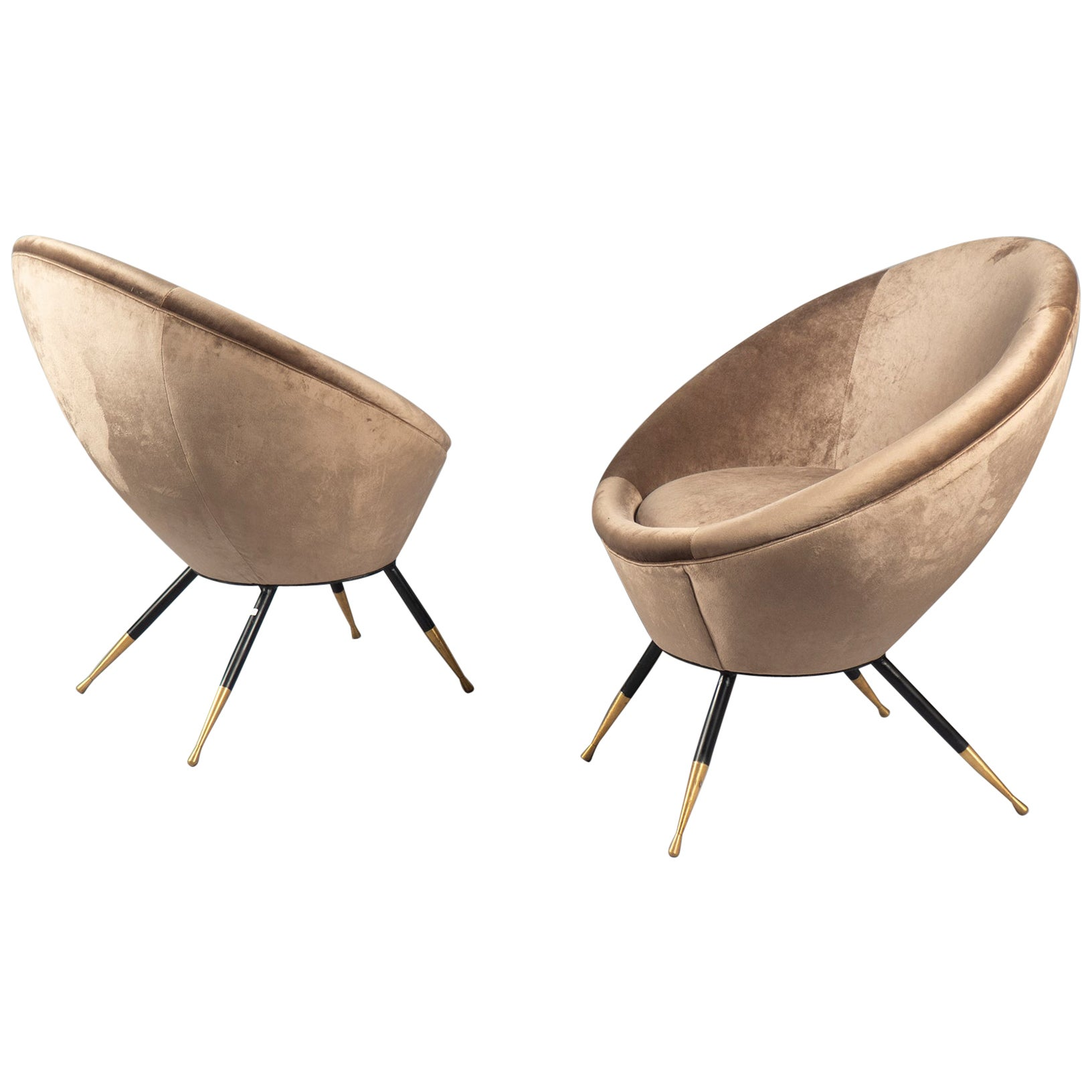 Pair of Chairs, Italy, 1960s