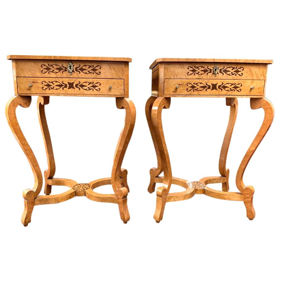 Swedish Biedermeier Side Tables, 20th Century