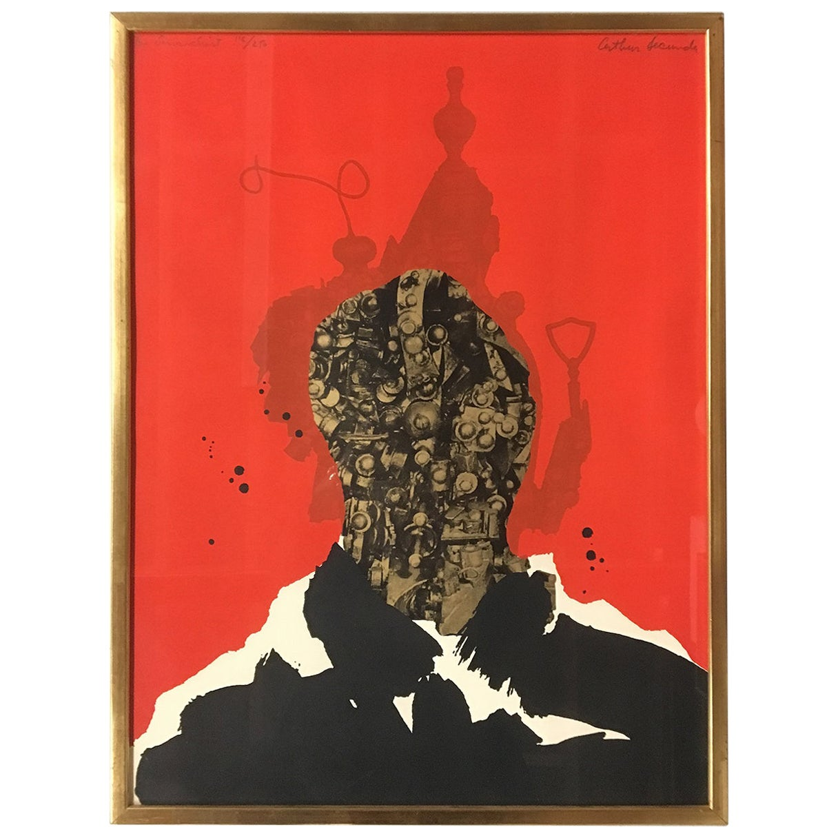 1960s Limited Edition Silkscreen Print 'The Anarchist' by Arthur Secunda