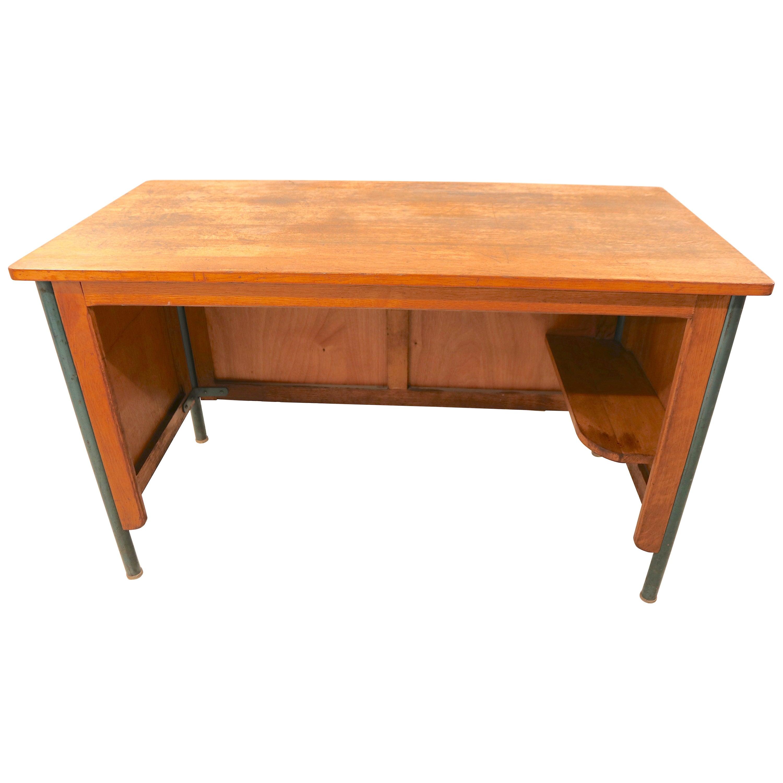 "Jean Prouvé Writing Table or Desk ""Surveillant"" (""Monitor"") for Lycée Nancy"