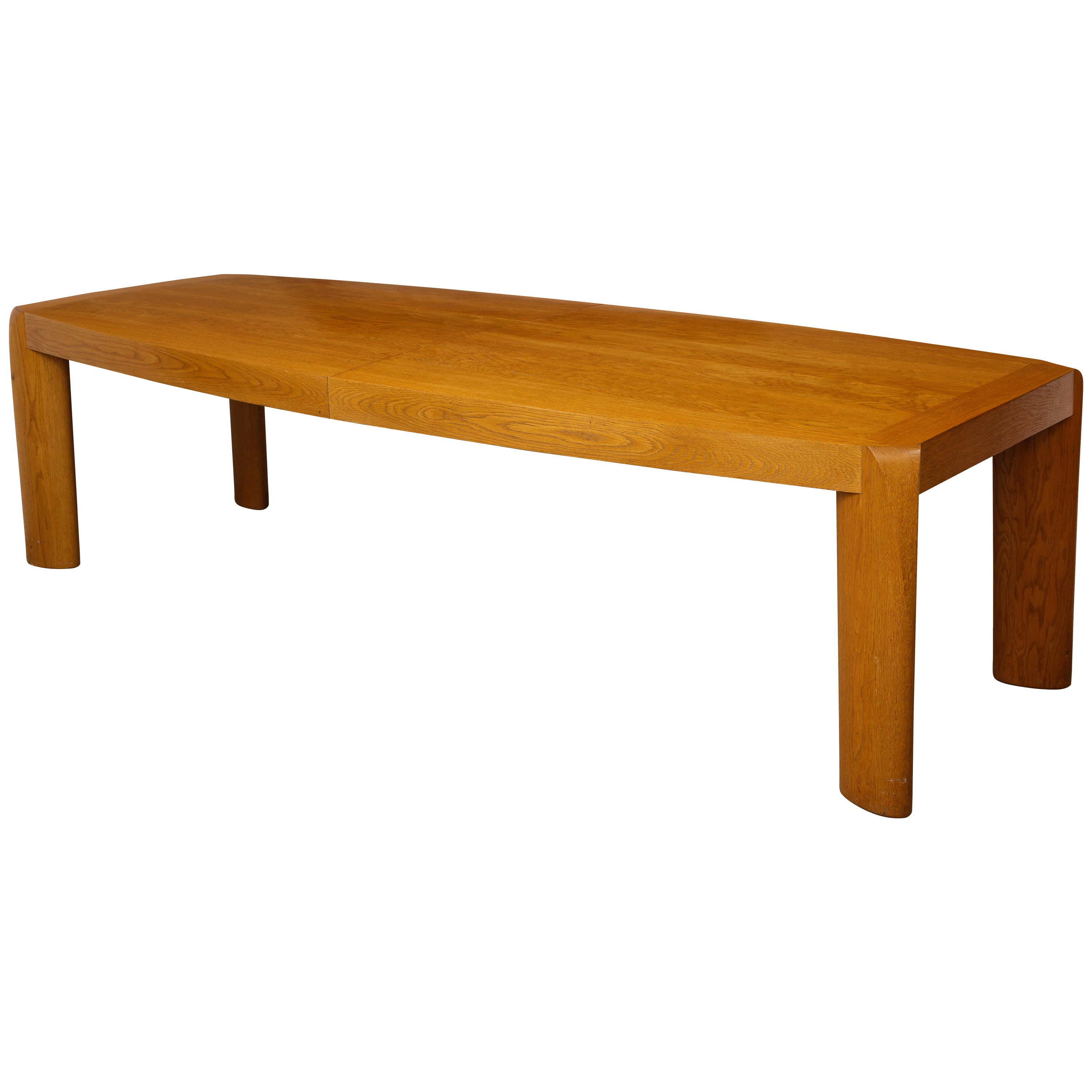Large Modern Oak Extension Dining Table