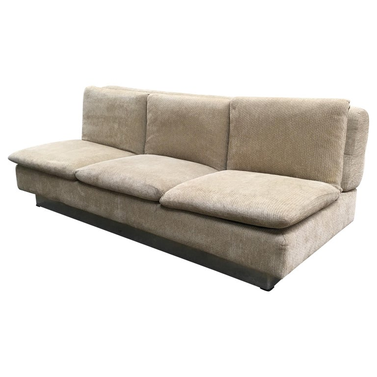 Mid-Century Modern Italian Sofa Bed by Saporiti, 1970s