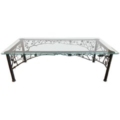 """Four Seasons"" Sculptural Wrought Iron Dining Table by Dereck Glaser"