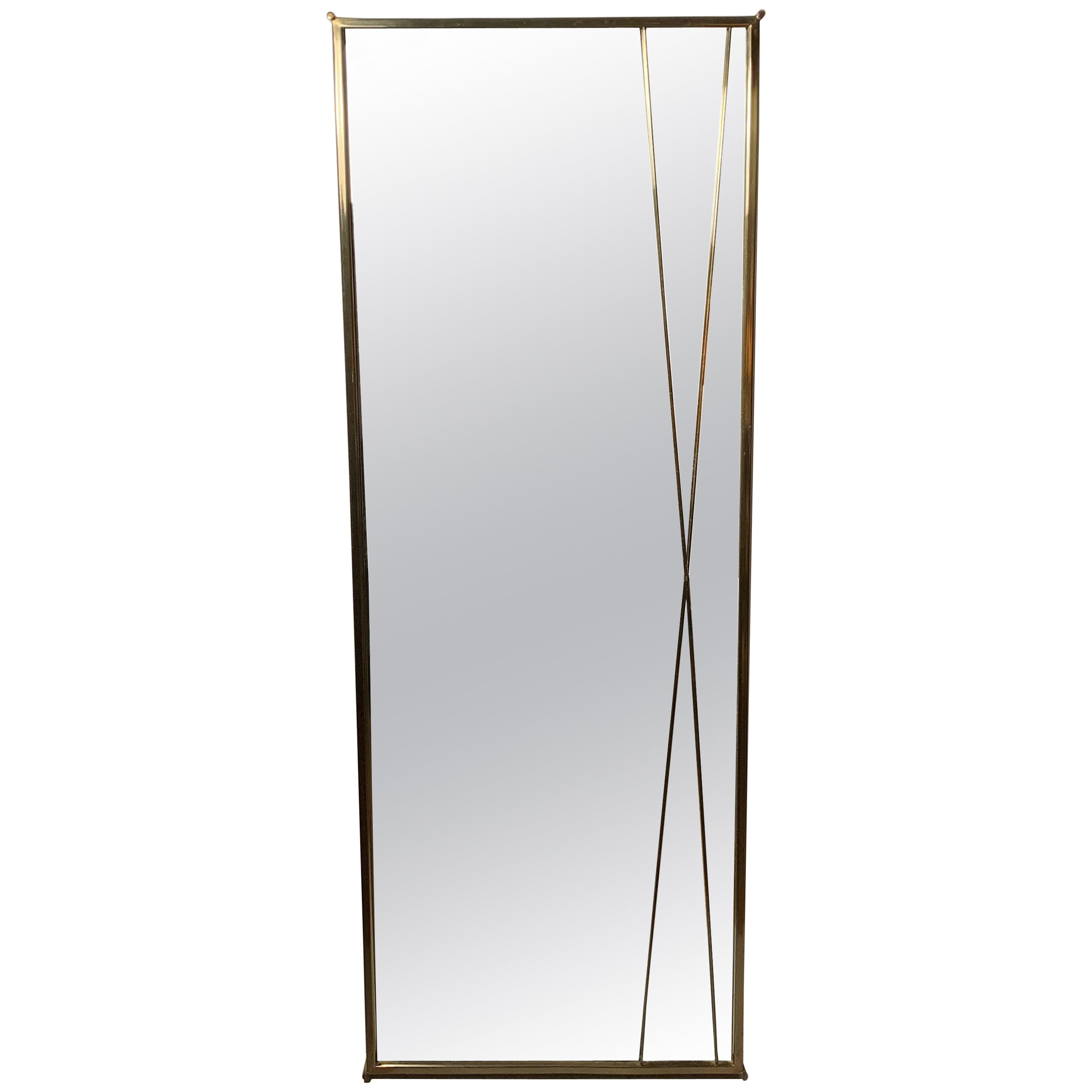 Paul McCobb Brass x Wall Mirror