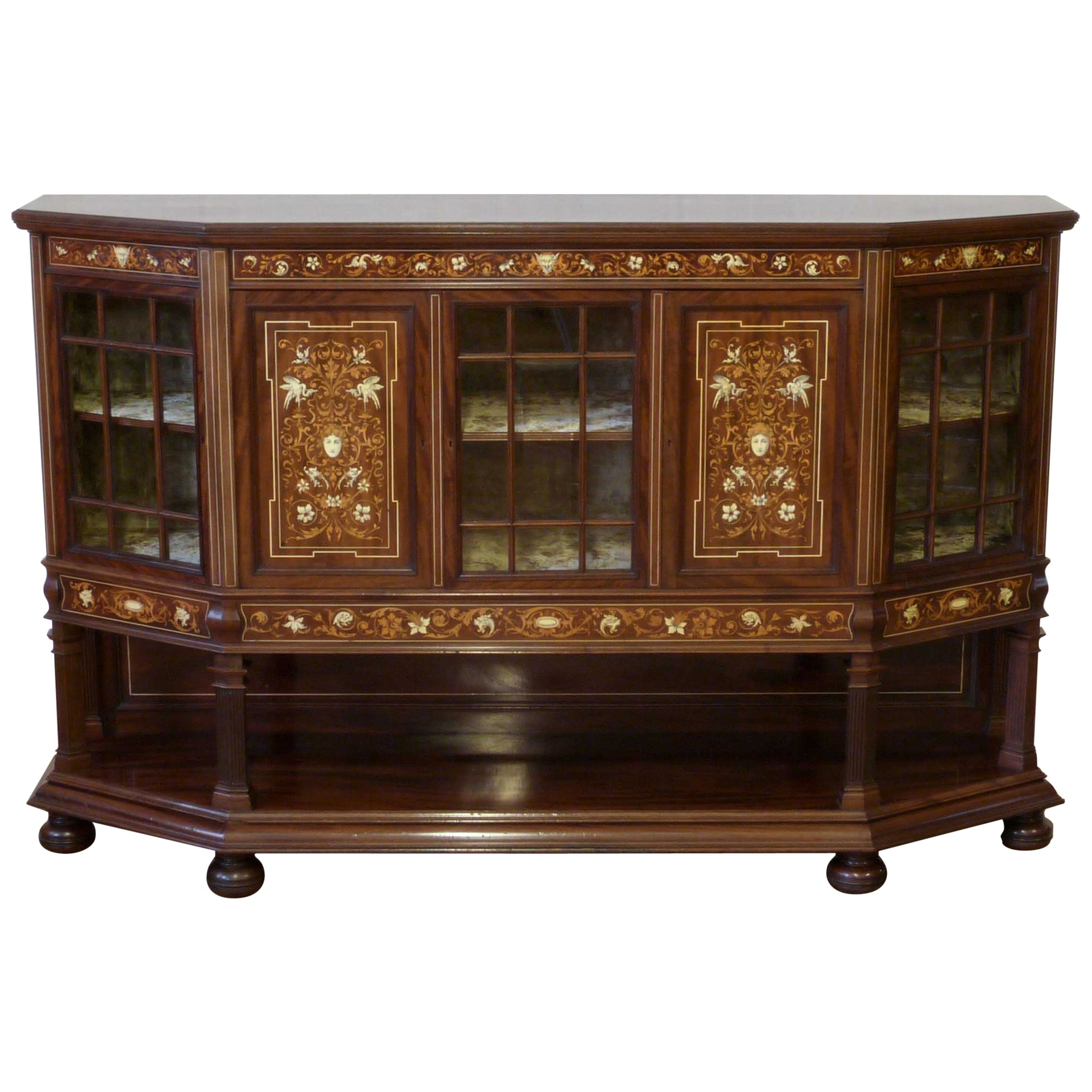 Edwardian Mahogany Side Cabinet by T.Simpson & Sons