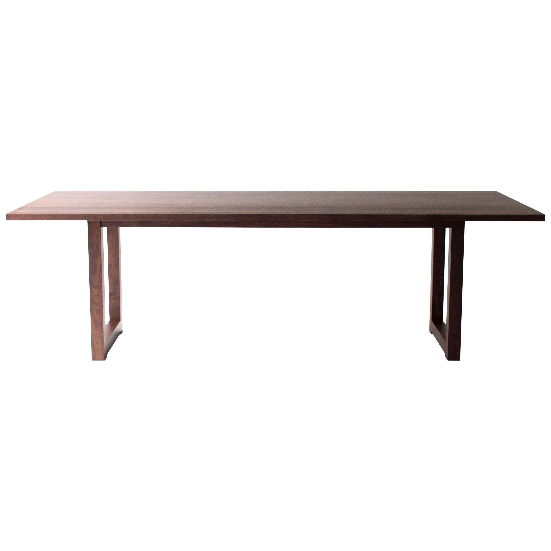 Simple Modern Dining Table, Walnut