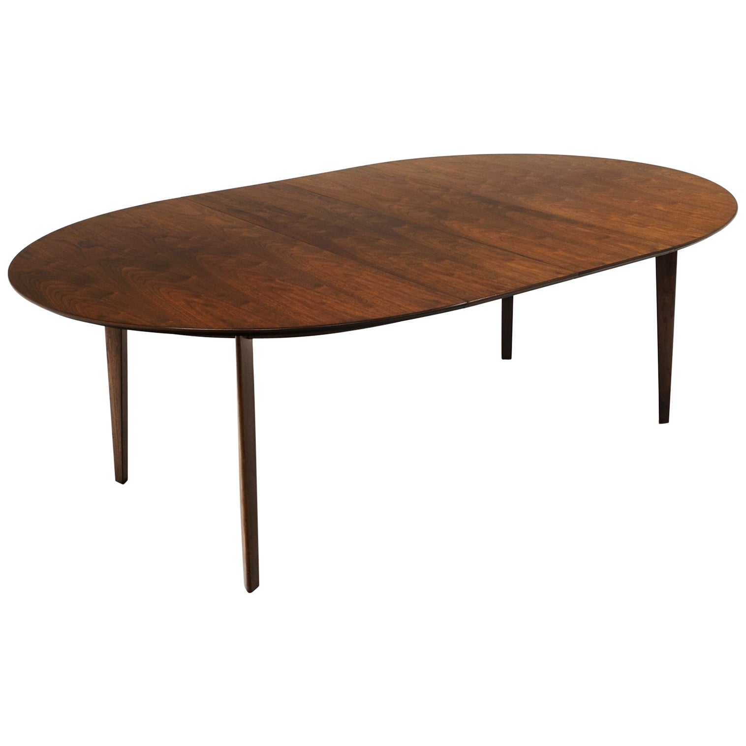 Expandable Dining Table by Edward Wormley for Dunbar, Almost Round to Oval