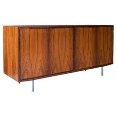 1960s Danish Credenza Midcentury Hundevad Rosewood Rustic Cabinmodern
