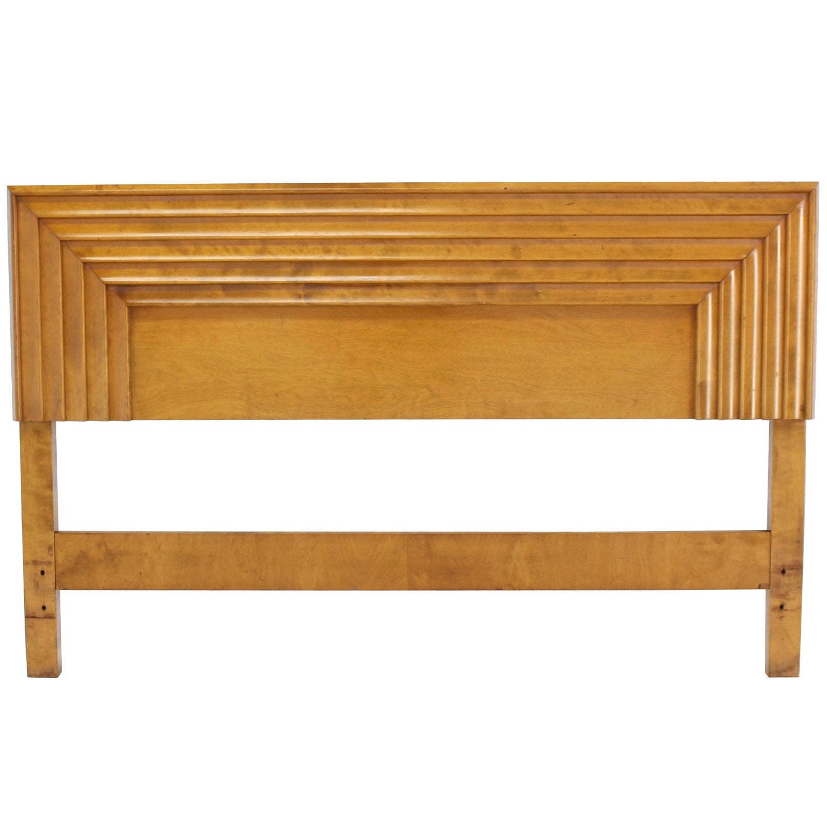 Mid-Century Modern Birch Full Size Headboard Bed