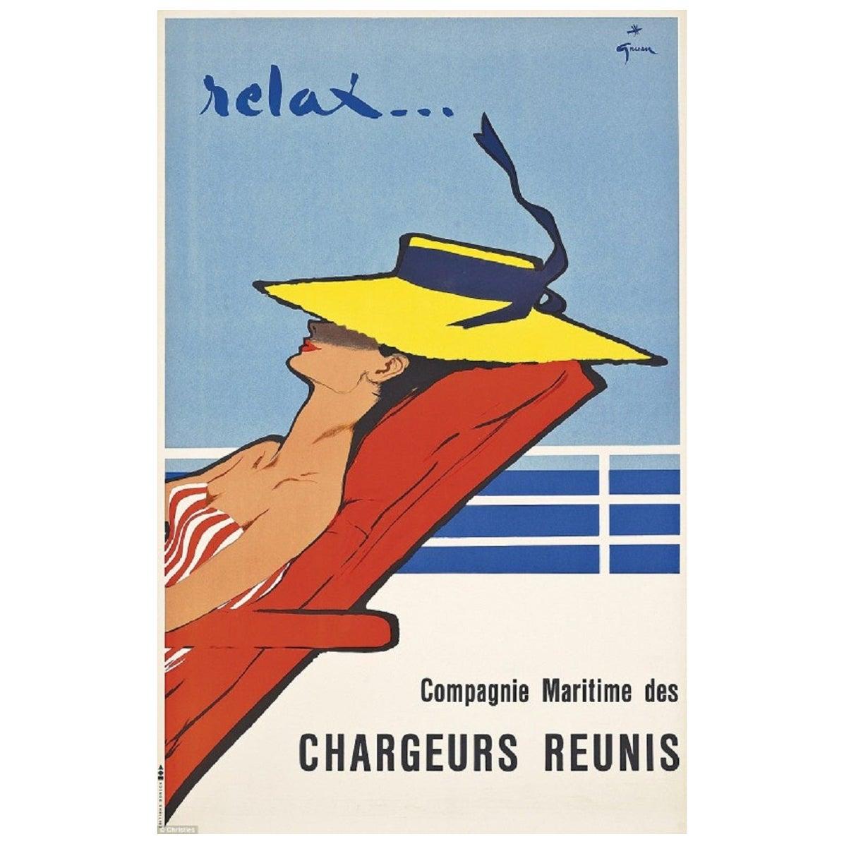 Rene Gruau Relax Original Vintage Poster