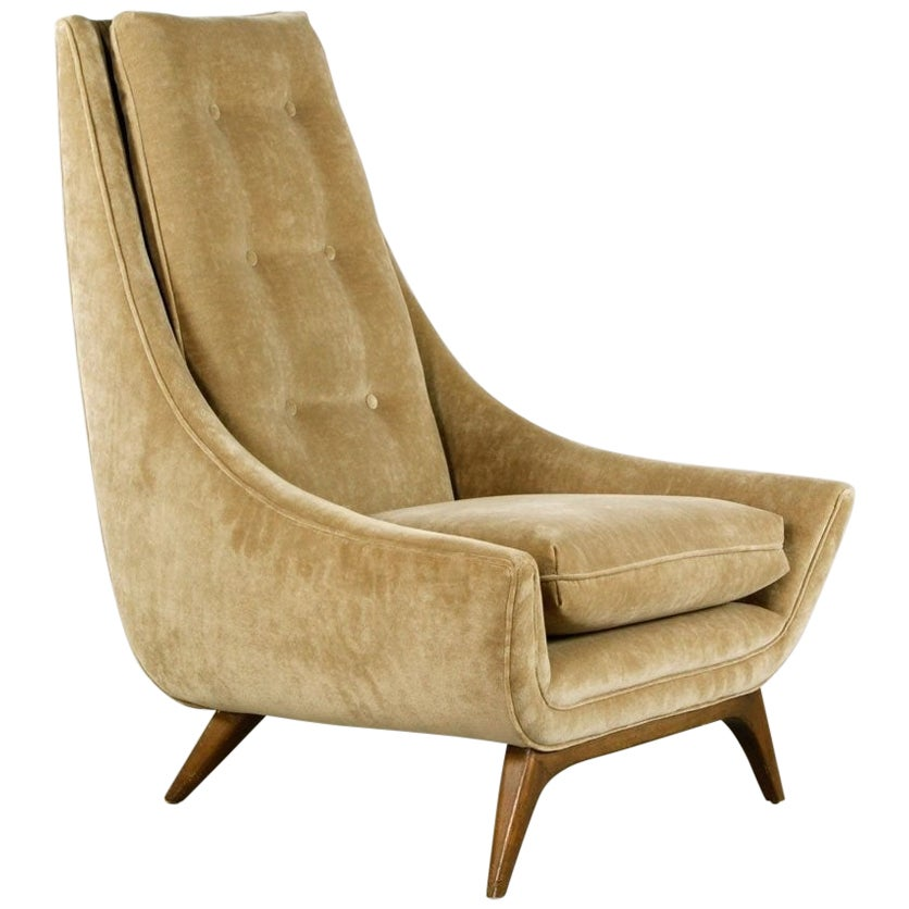 Mid-Century Modern Adrian Pearsall High Back Lounge Chair