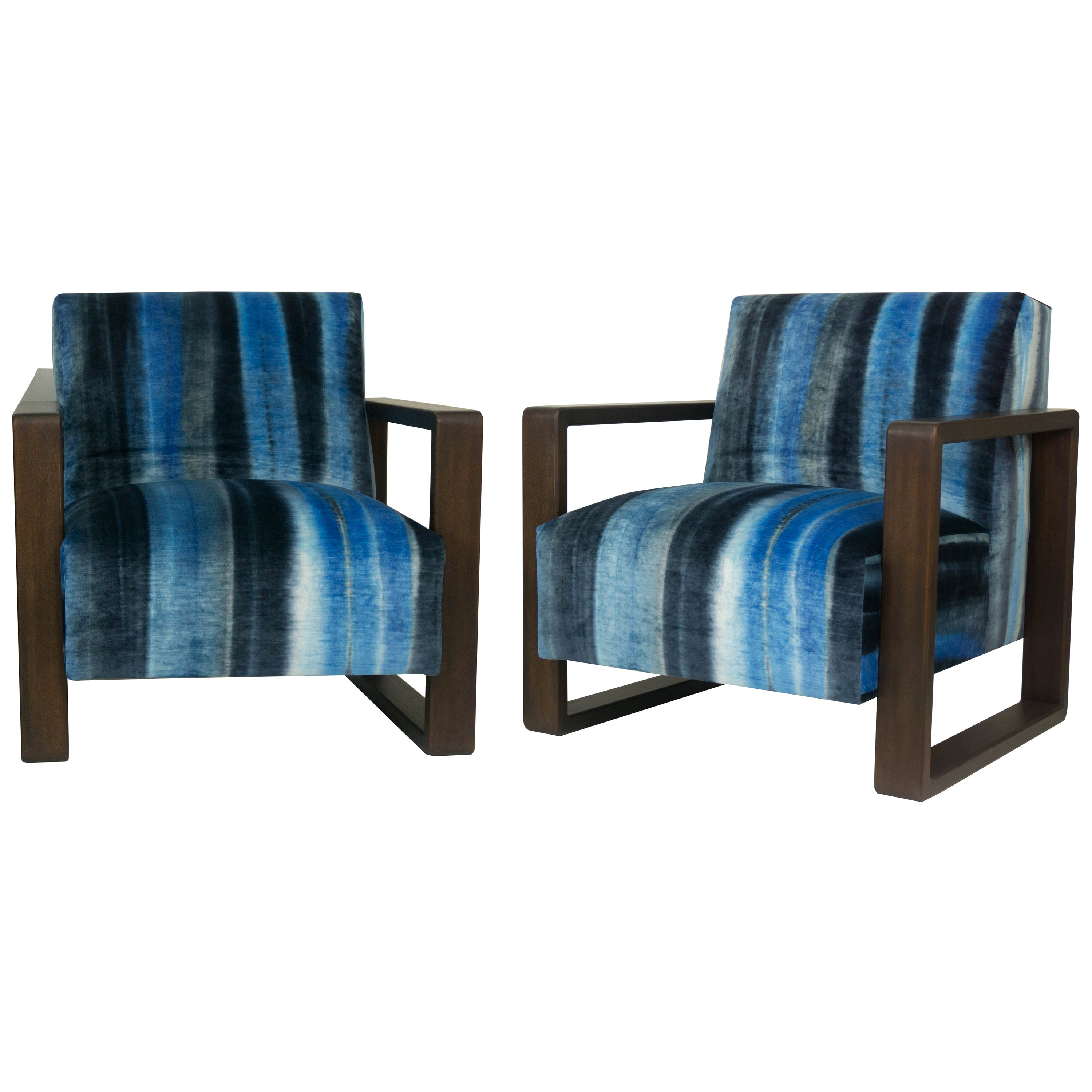 Modern Lounge Armchair with Square Frame, Custom