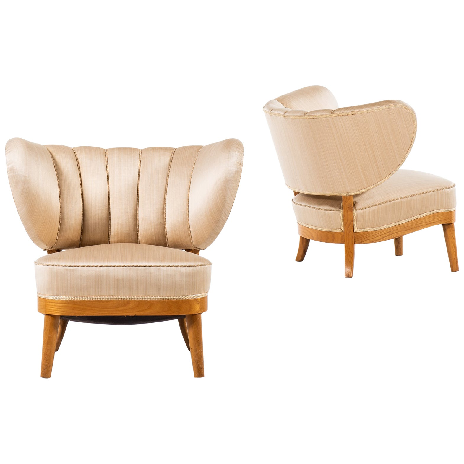 Otto Schulz Easy Chairs Produced by Boet in Sweden