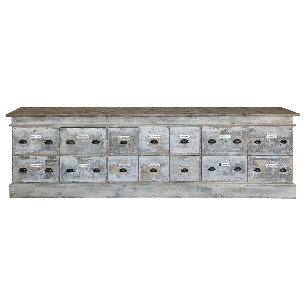 Grand 19th Century Apothecary Store Counter