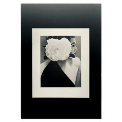 "Black and White Photo by Richard Avedon ""Barbara Mullen"" 1951 Sheet-Fed Gravure"