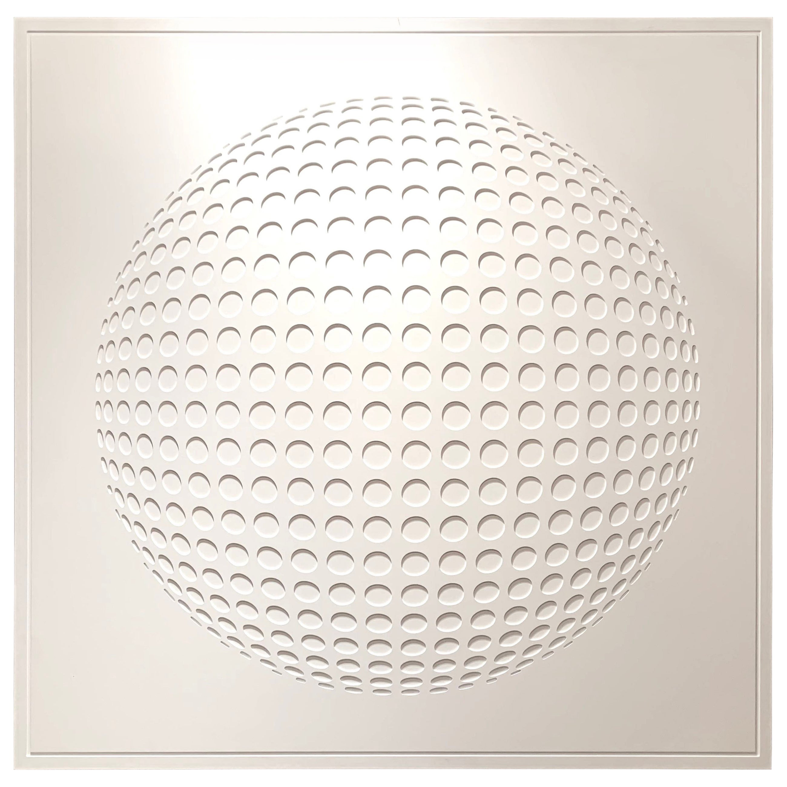 White On White Geometric Wall Sculpture From JLS Studio, France, Contemporary