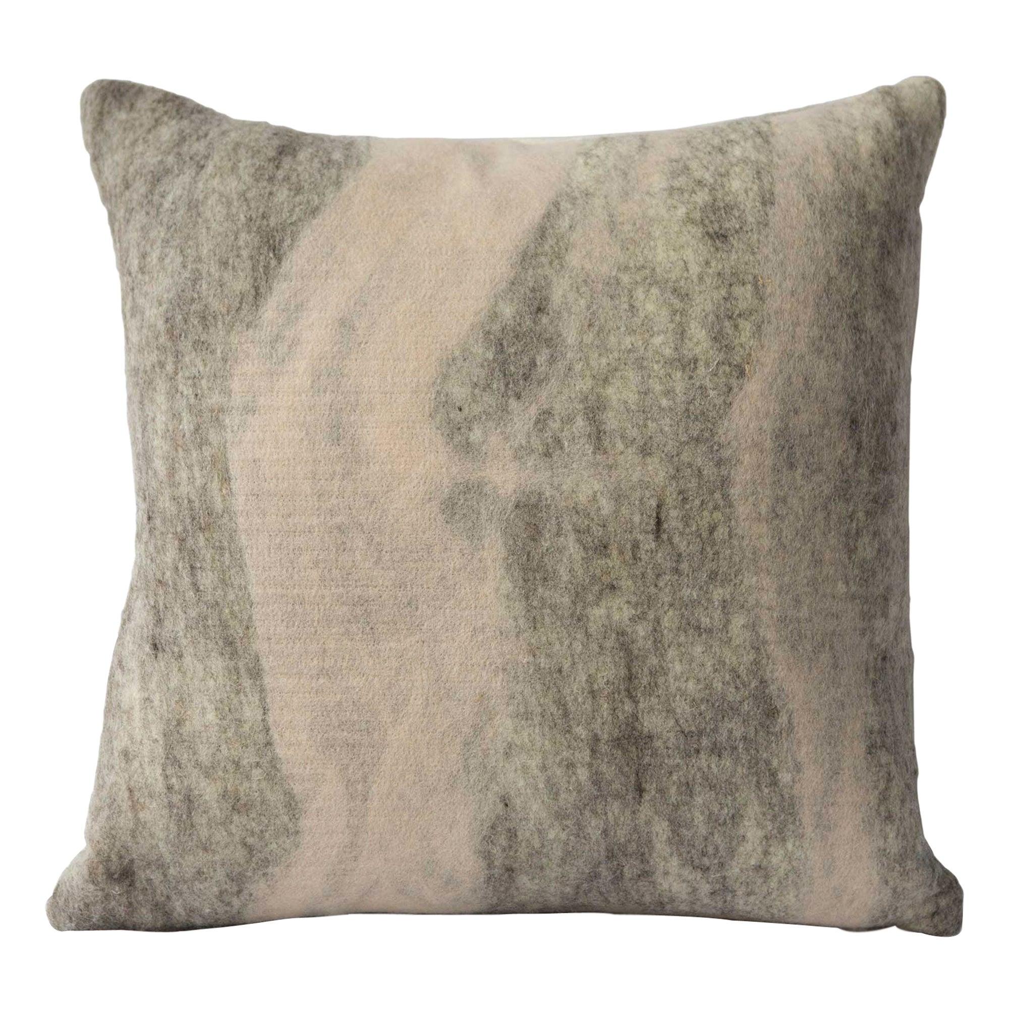 Shetland Wool Rose Pillow, Medium - Heritage Sheep Collection