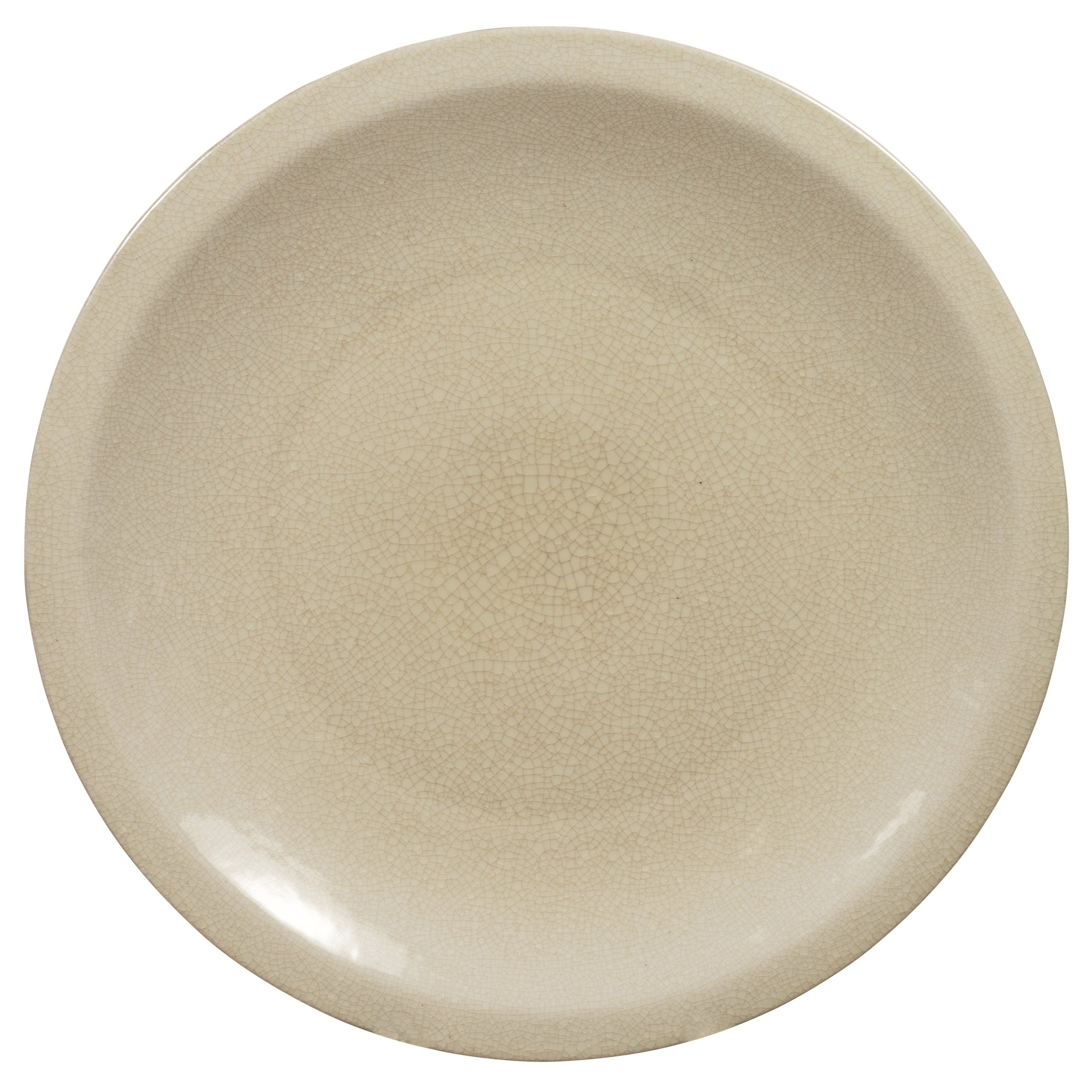 Vintage Chinese Beige Ceramic Charger Plate from the 1980s