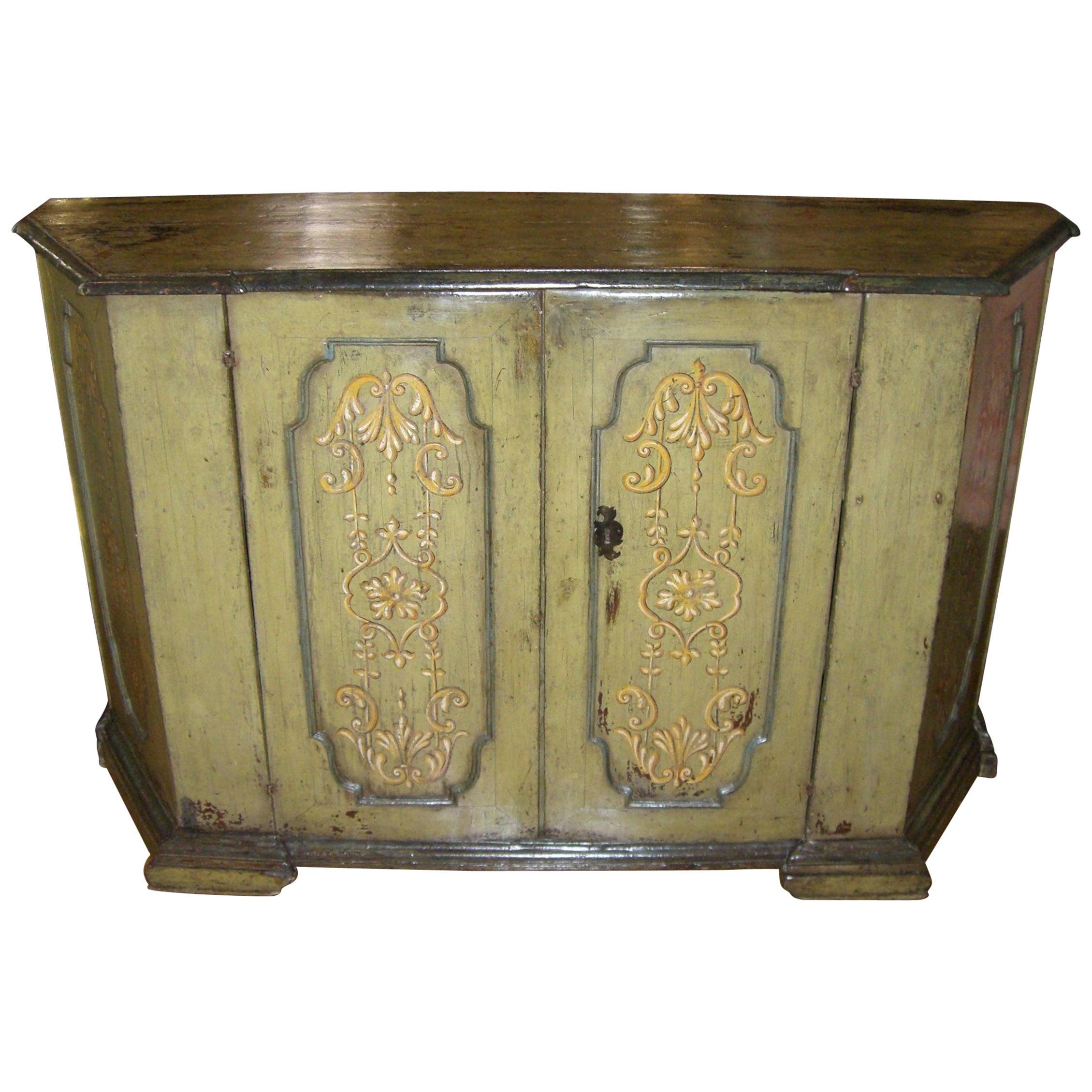 Rare 17th Century Tuscan Baroque Credenza Console Cabinet Italian Antiques LA CA
