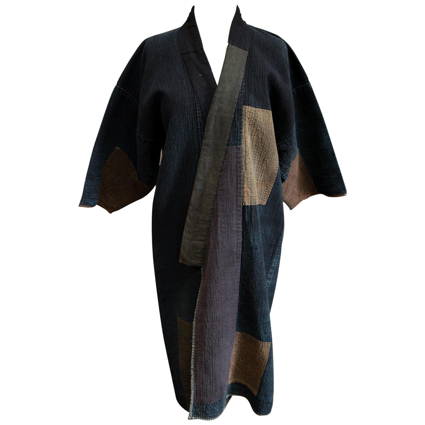 Japanese Sashiko-stitched Cotton Rodogi Work Coat, Early 20th Century