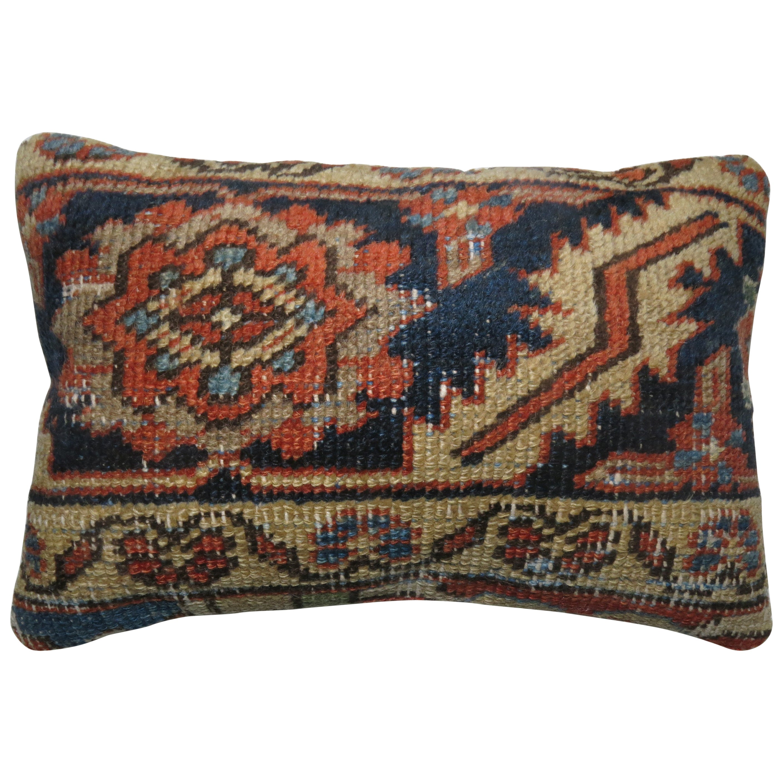 Persian Border Heriz Rug Pillow