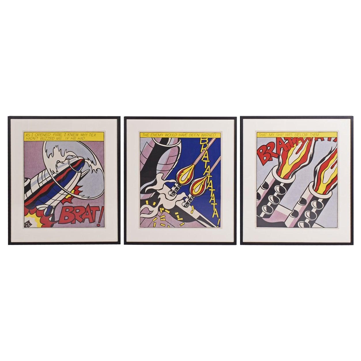 """Roy Lichtenstein, """"As I Opened Fire, 1966"""""""