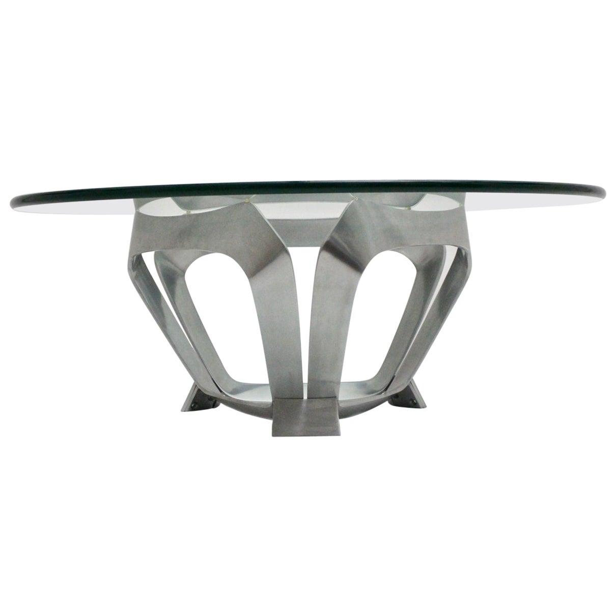 Mid-Century Modern Vintage Aluminum Coffee Table Knut Hesterberg, 1960s, Germany