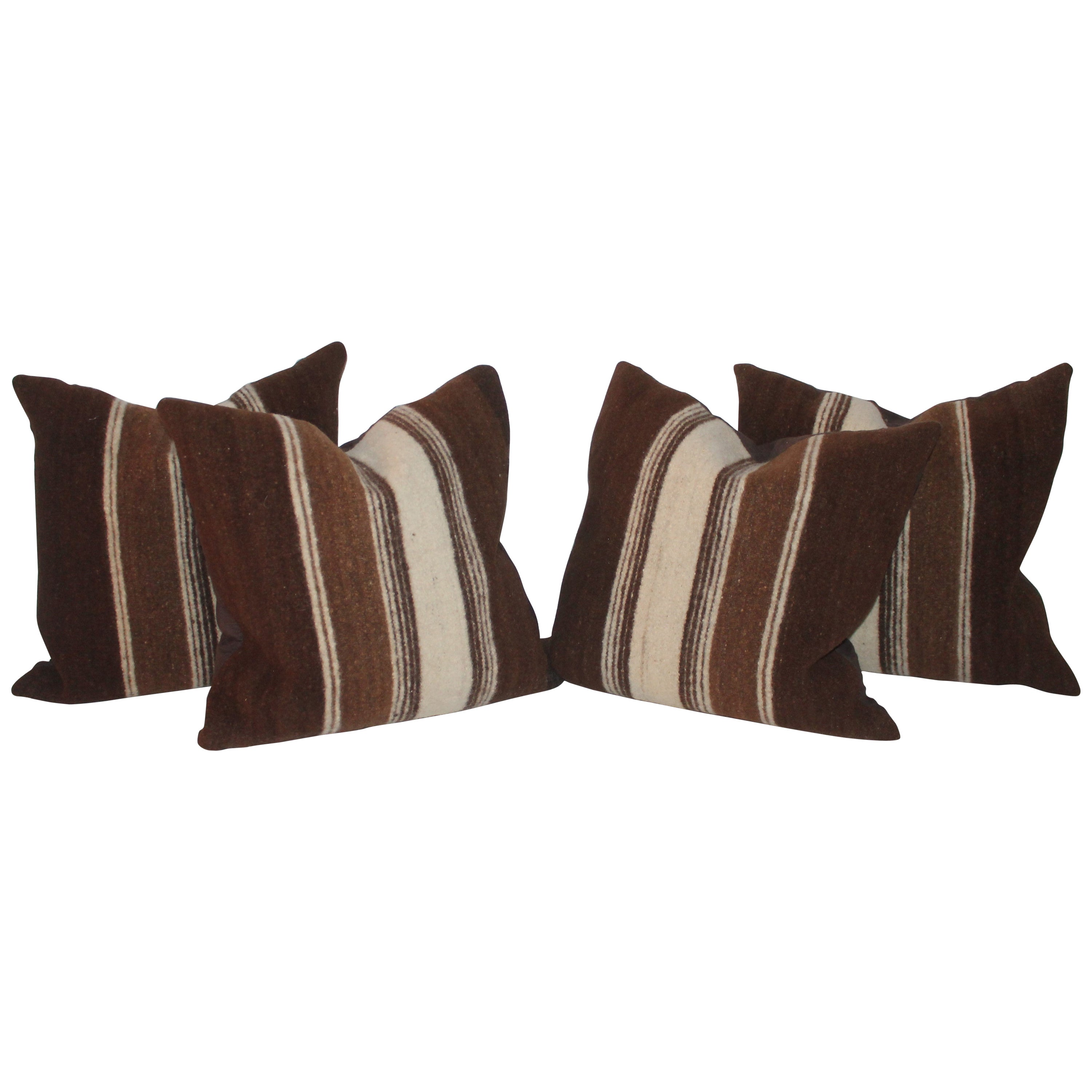 Saddle Blanket Weaving Pillows / Collection of Four