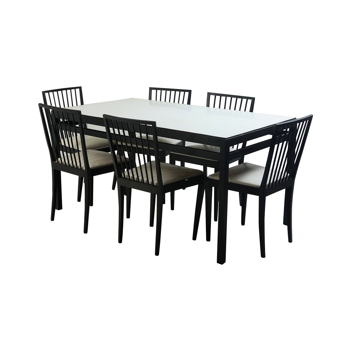 Mid-Century Modern Set of Dining Table and 6 Chairs by Móveis Flama, Brazil