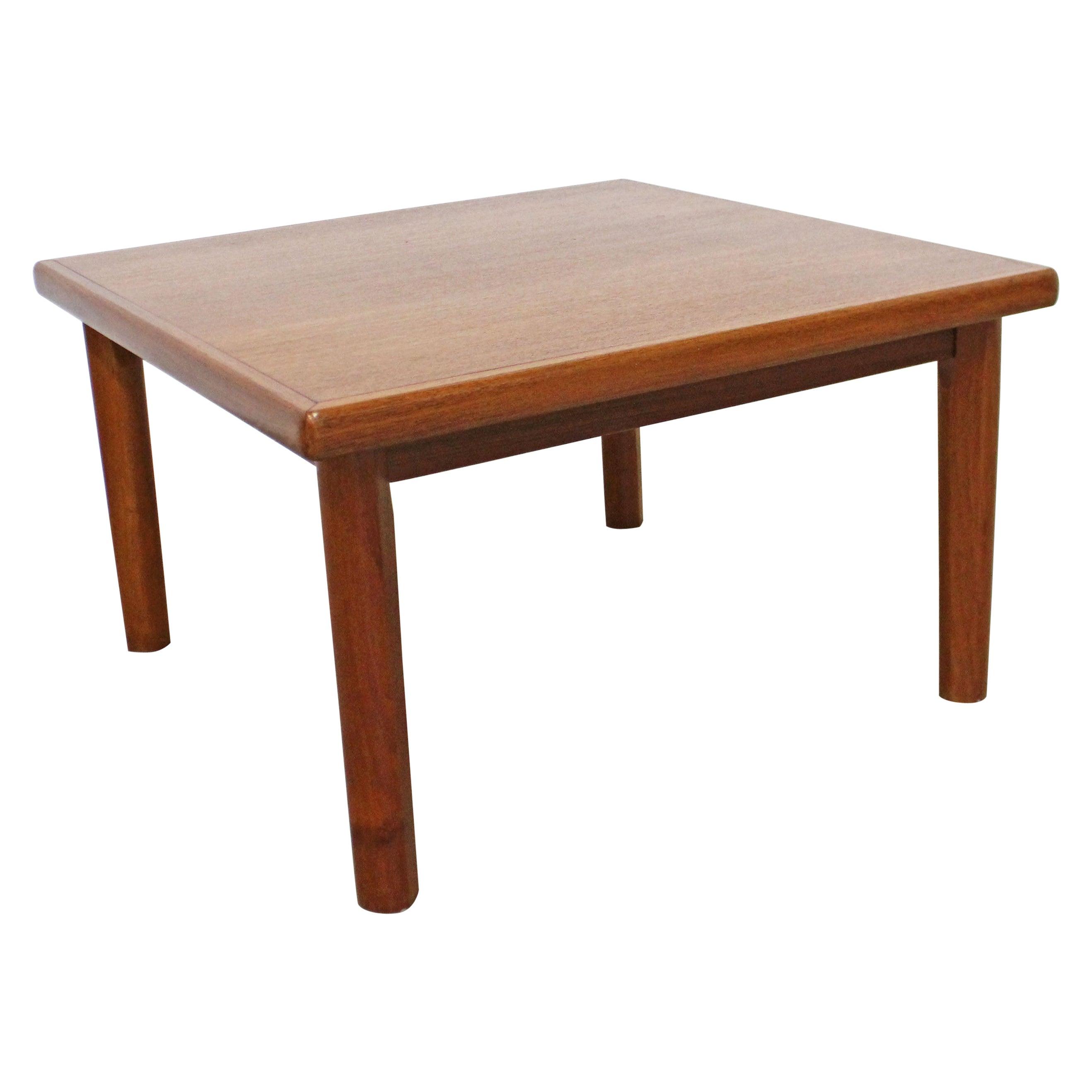 Danish Modern BRDR Furbo Square Teak Side/Coffee Table