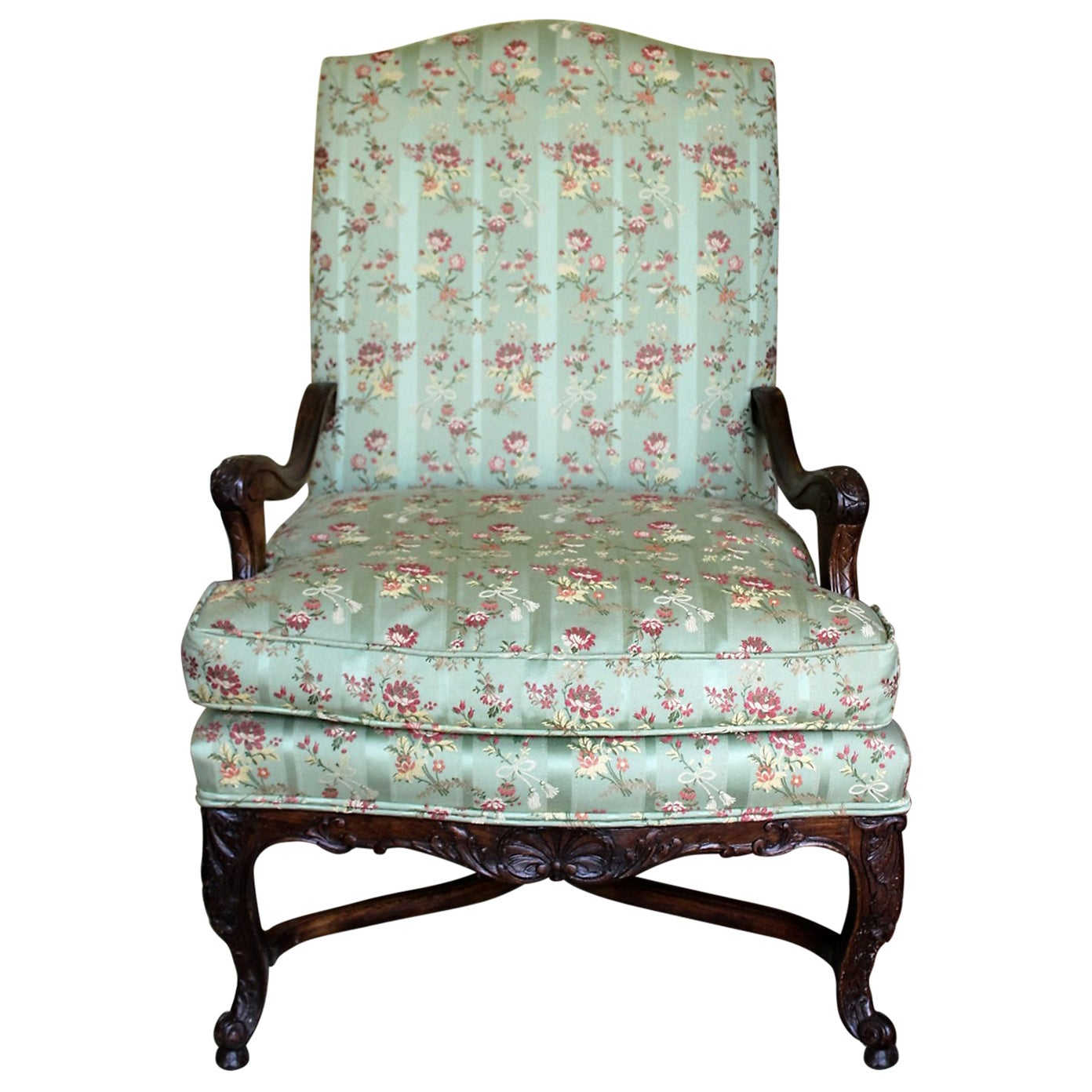 Late 19th Century Carved Walnut Armchair