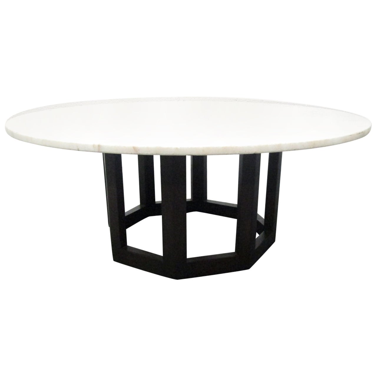 Marble-Top Coffee Table manner of Harvey Probber
