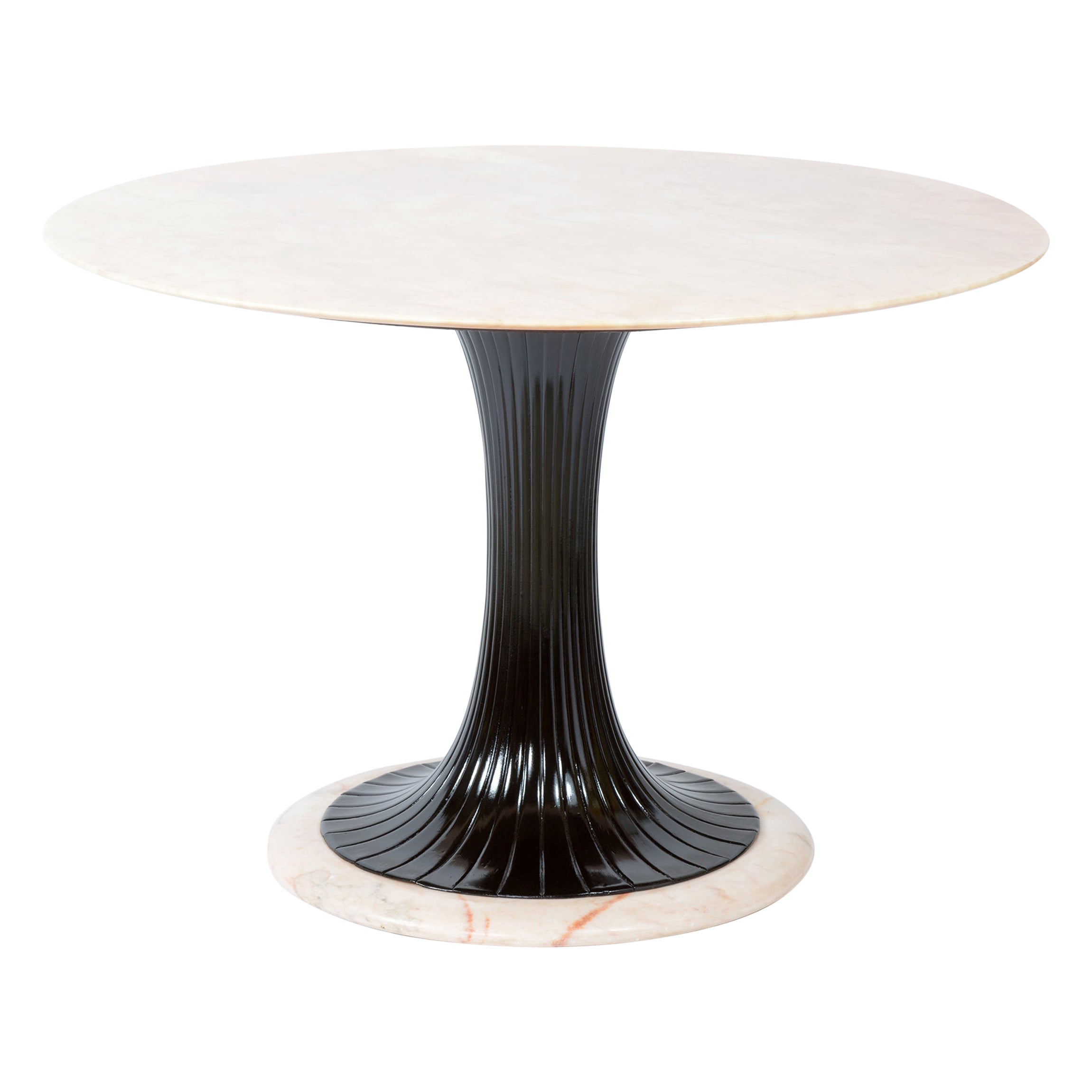 Dassi Lissone Milano Italy Midcentury Round Marble Top Table