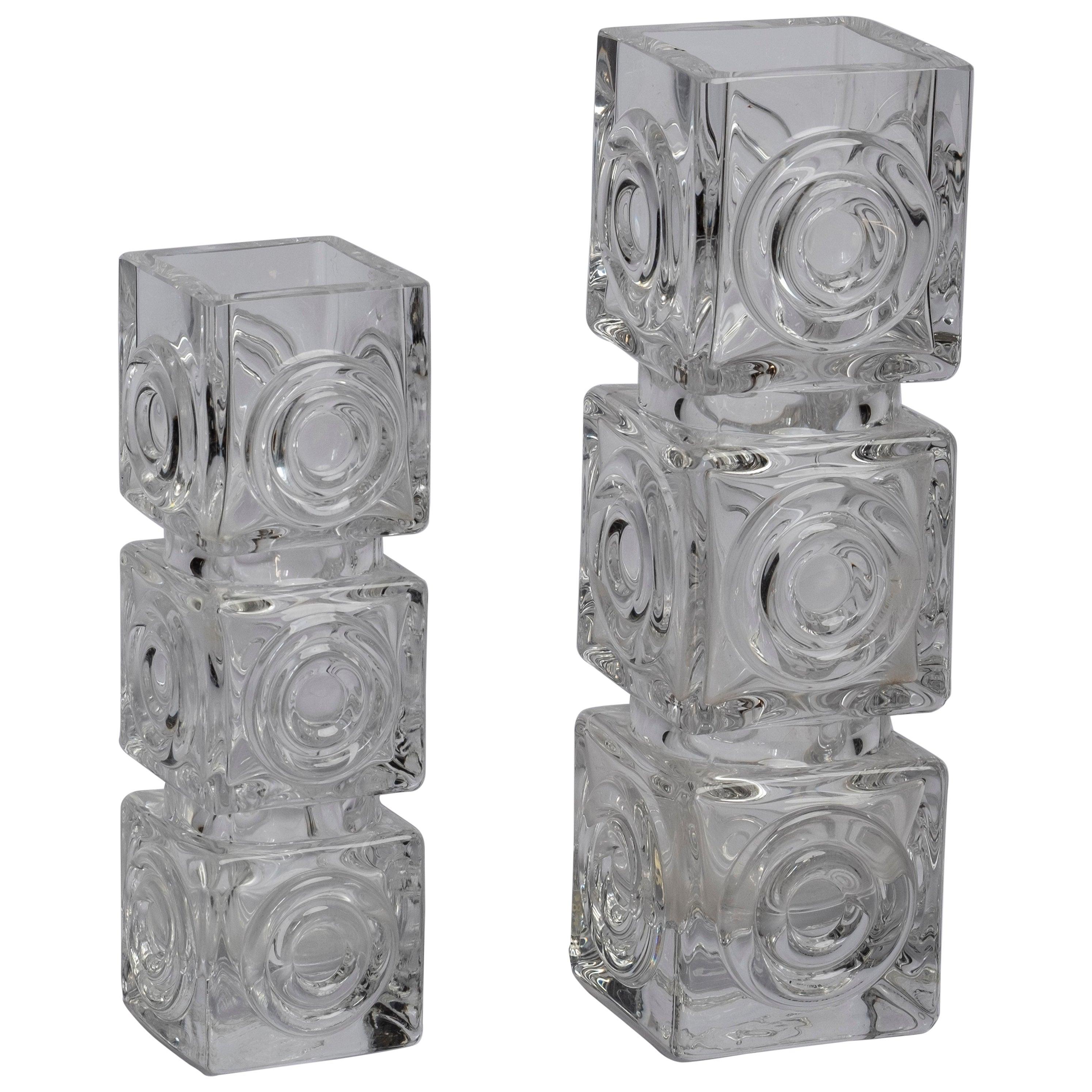 Scandinavian Modern Glass Vases by Bengt Edenfalk for Skruf