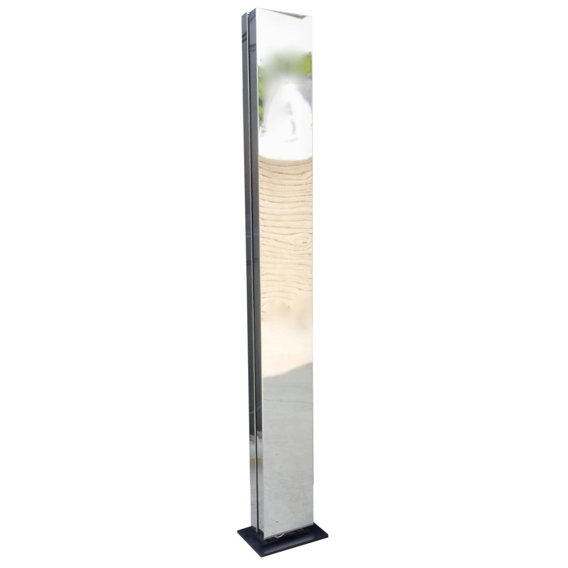 """Casella Chrome """"Invisible"""" Tower TOTEM Floor Lamp"""