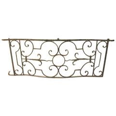 Fabulous 18th Century French Wrought Iron Balcony