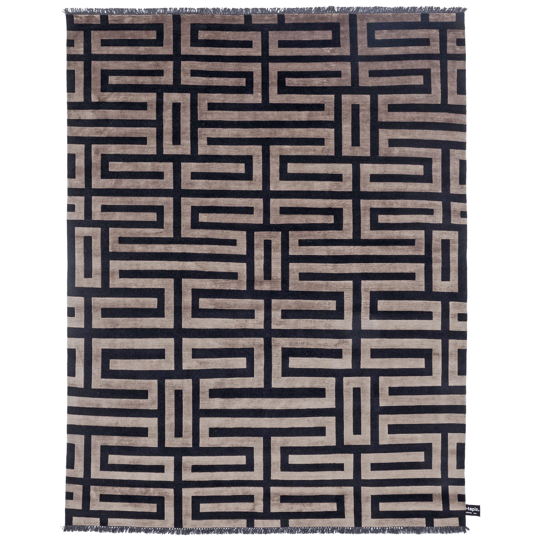 Maze Soie Bronze Rug by CC-Tapis
