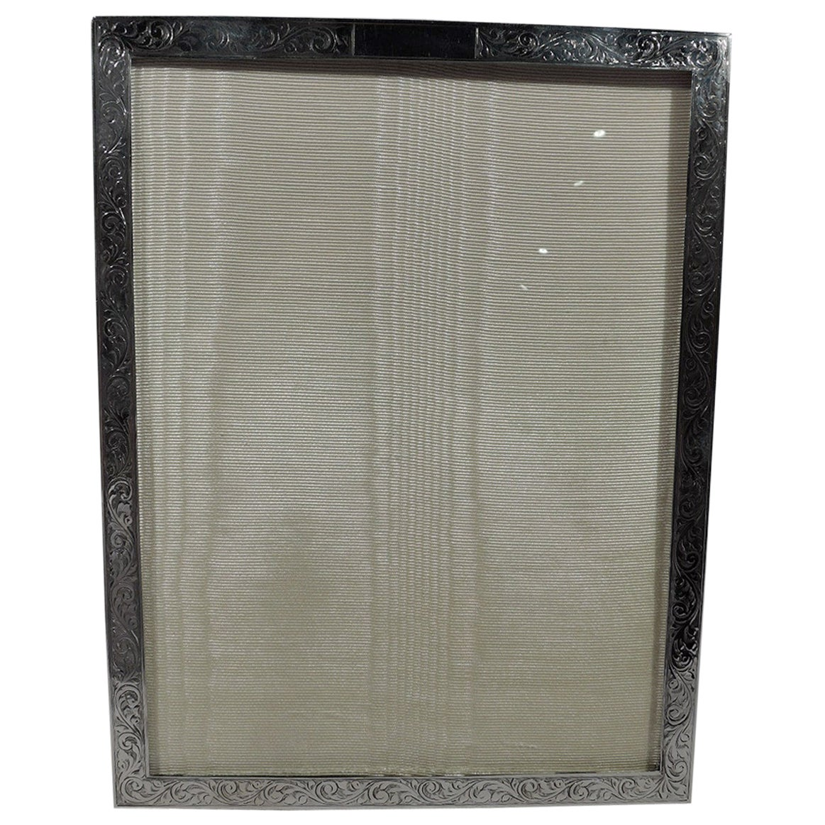 Old Fashioned English Sterling Silver Picture Frame