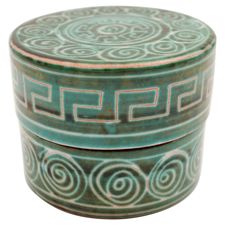 Ceramic box by Robert Picault, 1950s, France