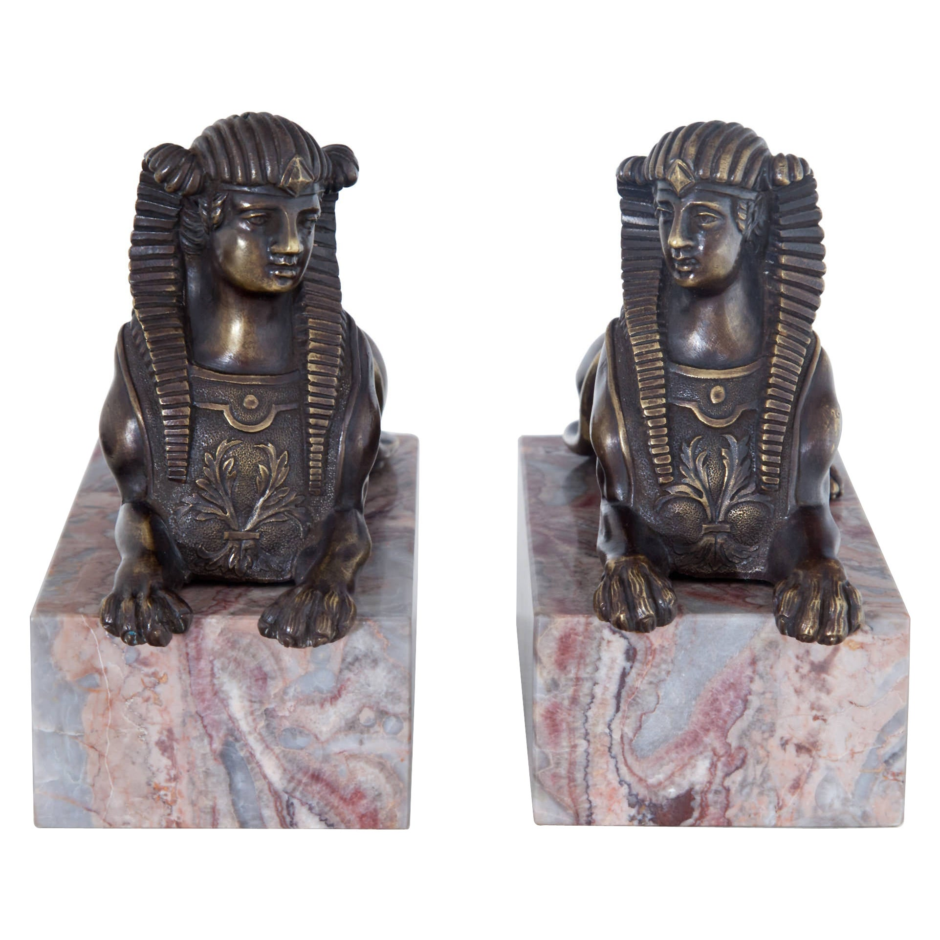 Bronze Sphinxes, France, 19th Century
