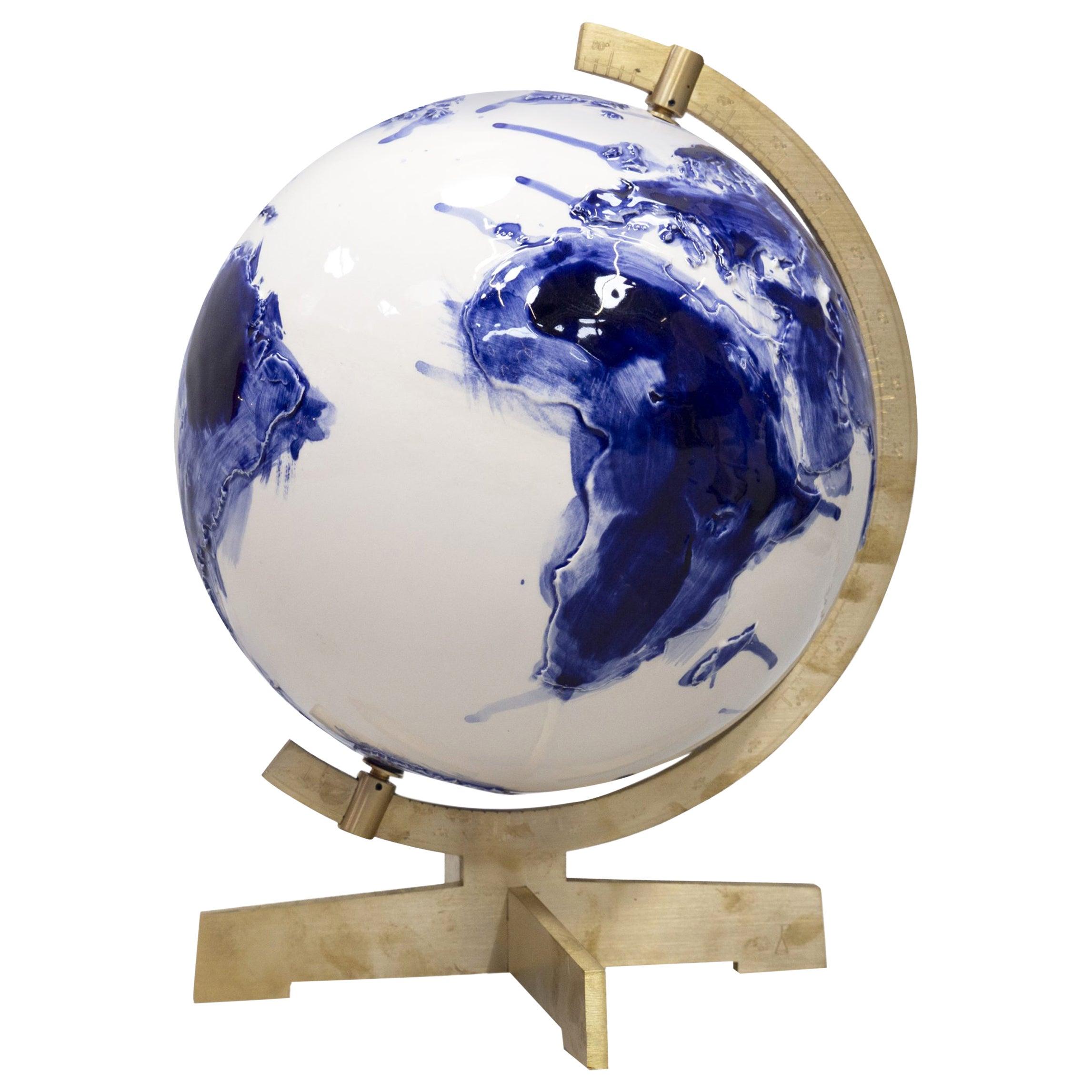 Unique Earth Globe Sculpture by Alex de Witte