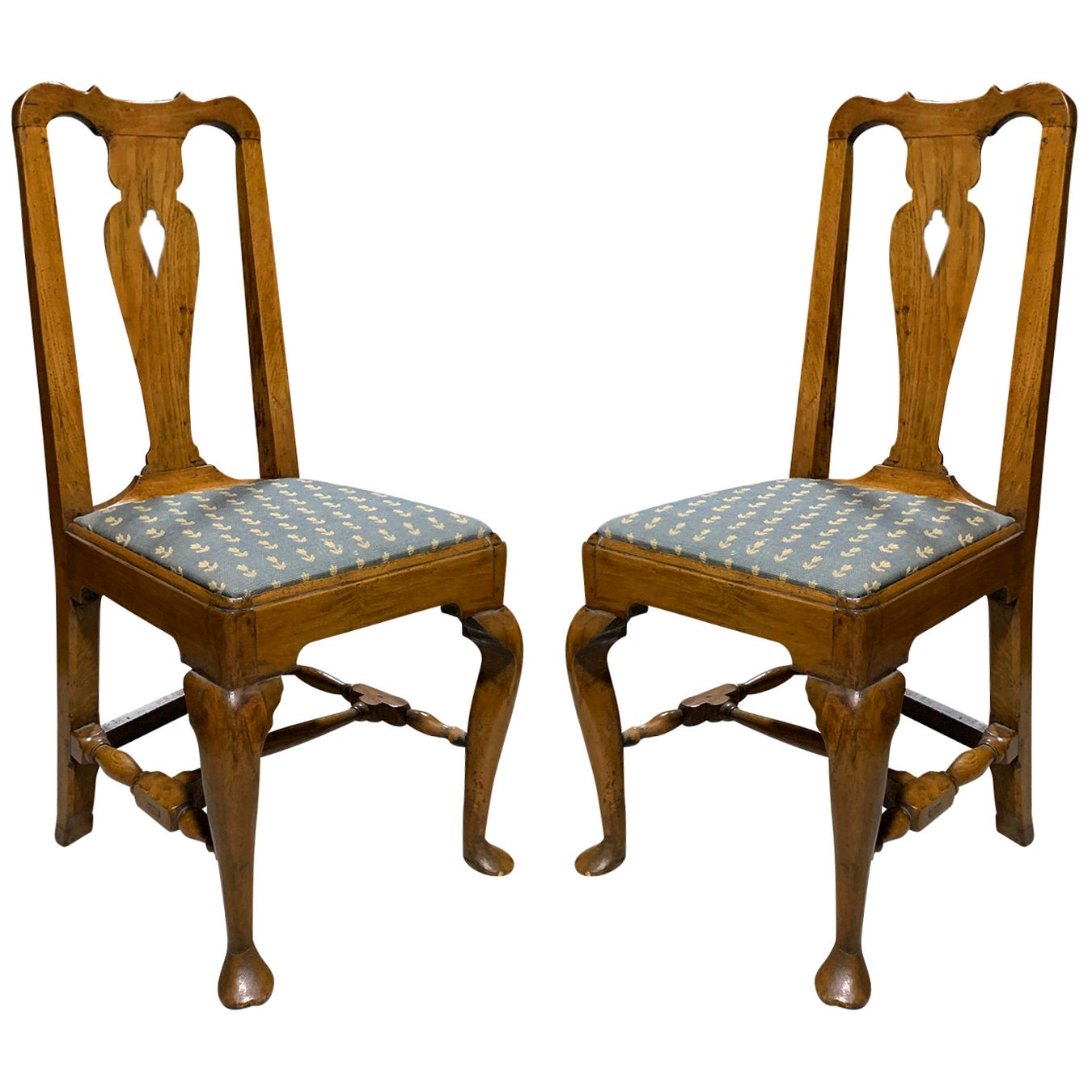 Pair of 19th Century English Oak Side Chairs