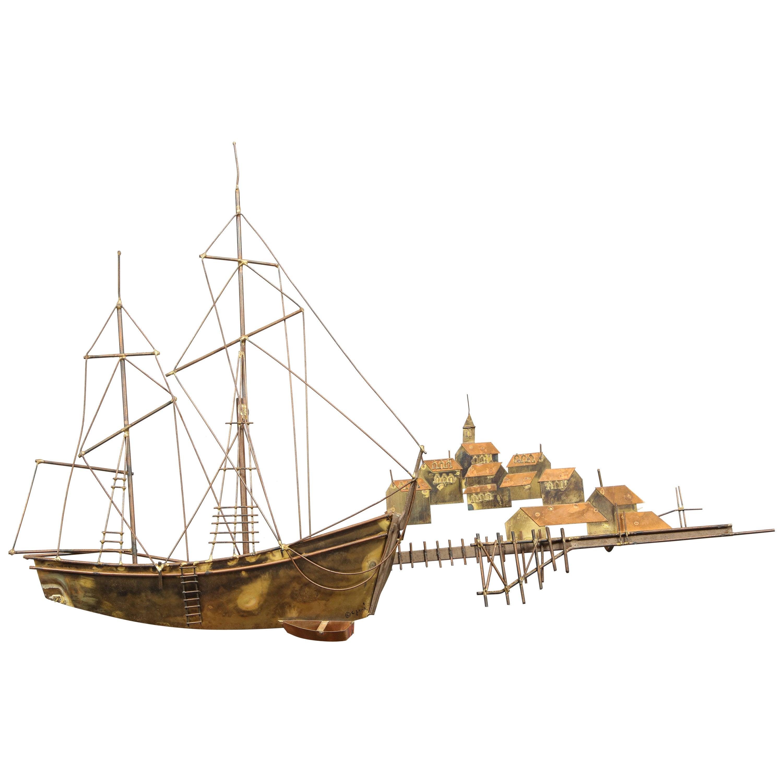 Curtis Jeré  Ship Wall Sculpture