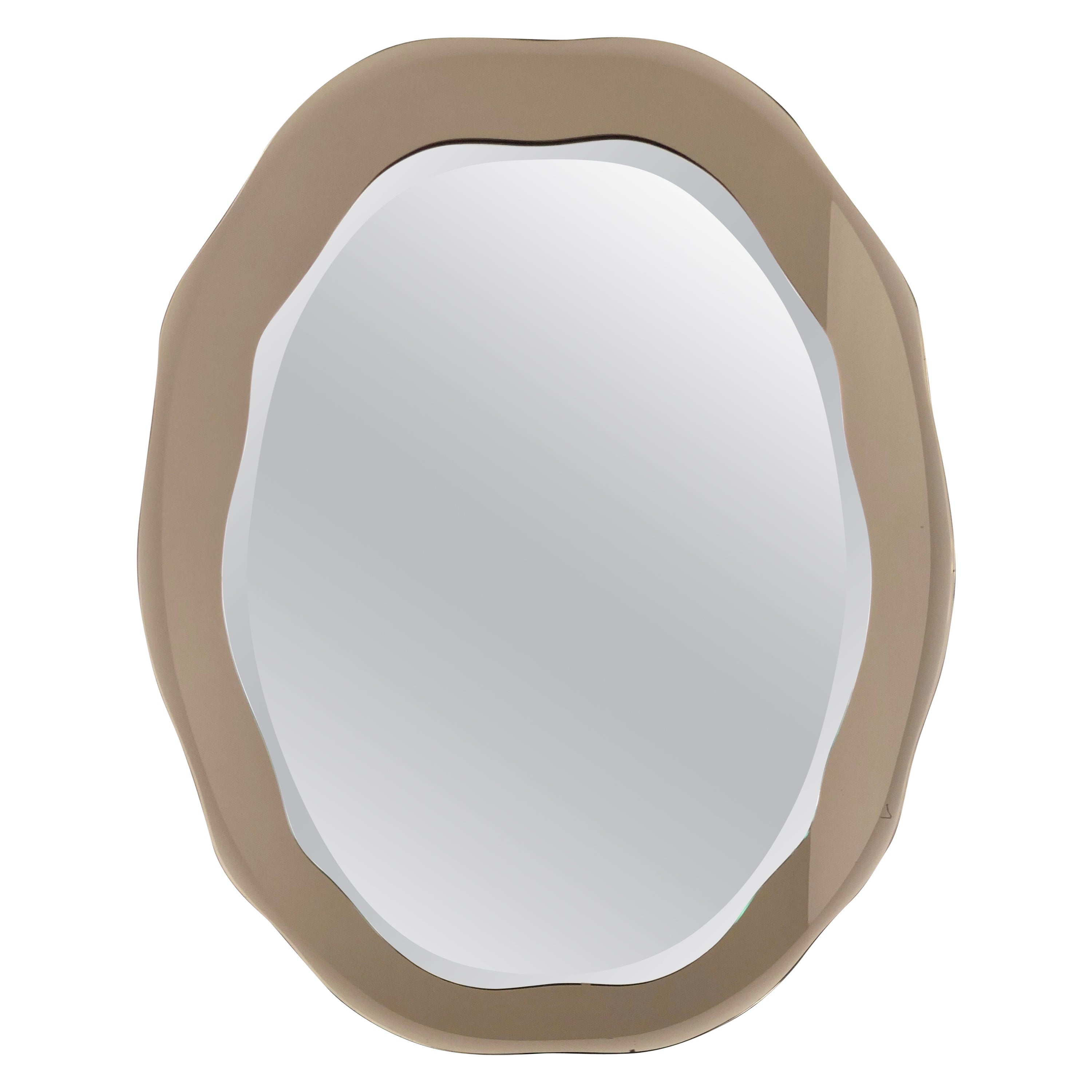 Wall Mirror by Cristal Arte, Italy, 1960s, Mid-Century Modern Style