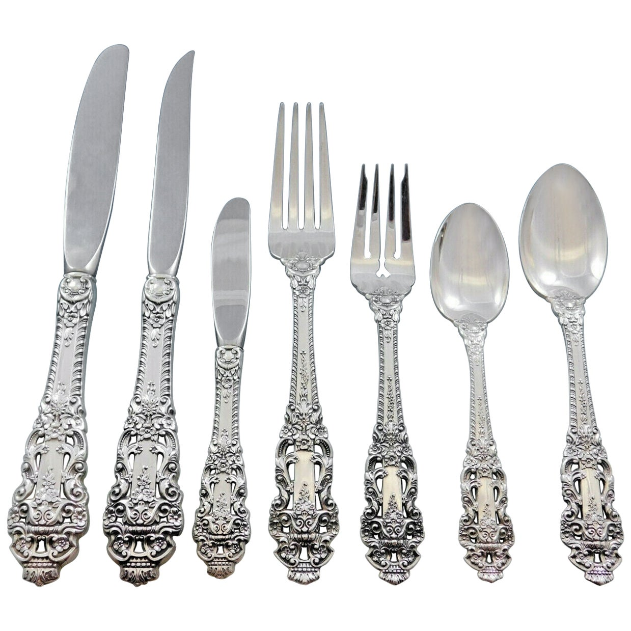 CROWN BAROQUE Gorham Sterling Silver Flatware No Monogram Teaspoon s