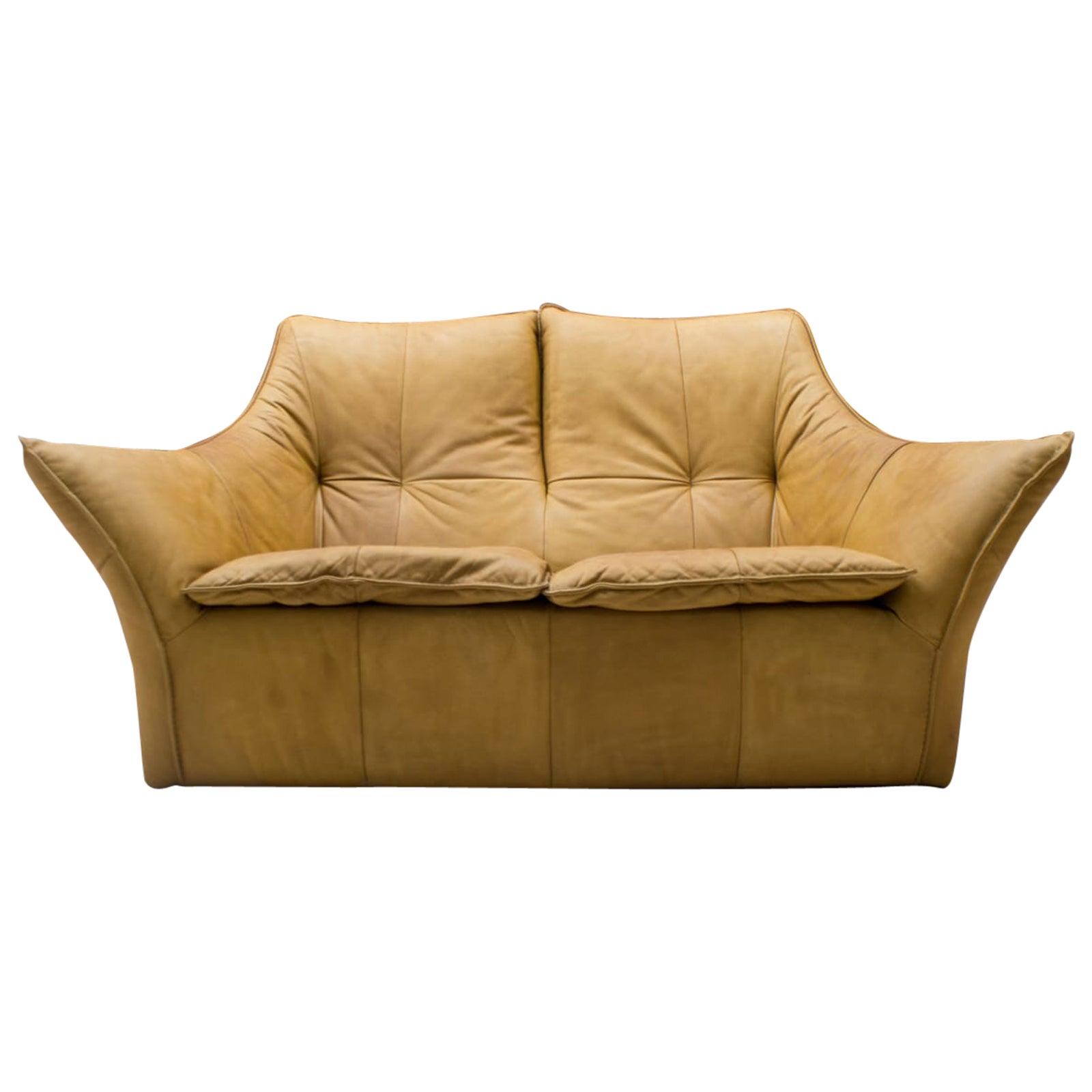 'Denver' 2-Seat Leather Sofa by Gerard Van Den Berg for Montis, 1970s