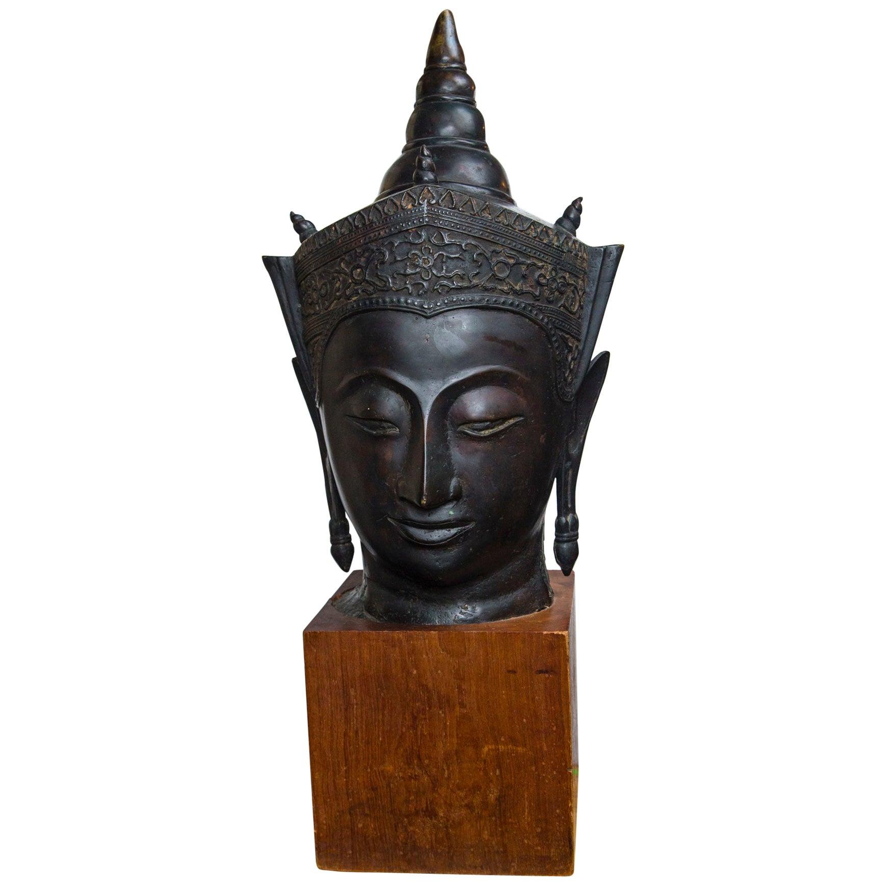 Bronze Head of a Buddha