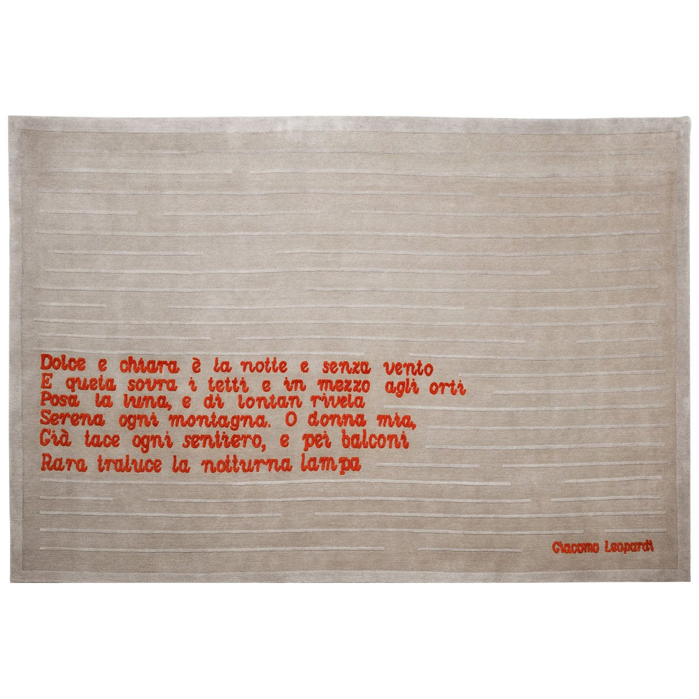 Poeta Carpet, Hand Knotted, 100knots, Wool, Pietro Derossi
